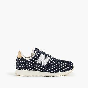 NEW New Balance Girls Polka Dot Navy Gold Sneakers